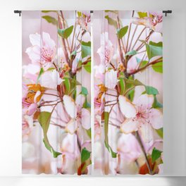 Pink Blooms Blackout Curtain