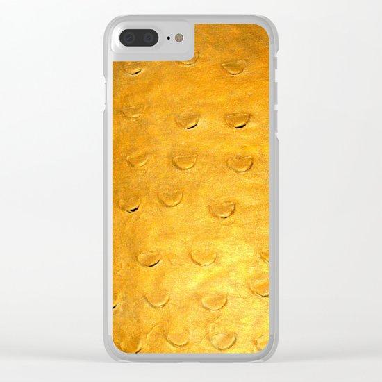 Orange Scales Clear iPhone Case