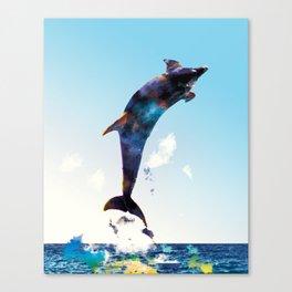 Colorful delphin Canvas Print
