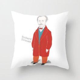 Richard Strauss Throw Pillow