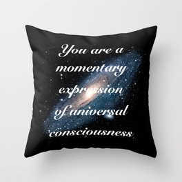Momentary Expression of Universal Consciousness Throw Pillow