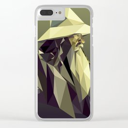 Low Poly Gandalf Clear iPhone Case