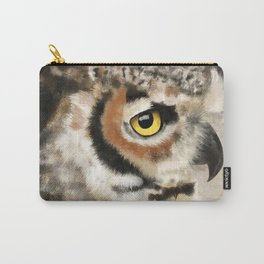 Horned Owl Portrait II Carry-All Pouch