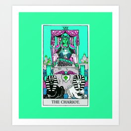 7. The Chariot- Neon Dreams Tarot Art Print
