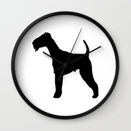 Schnauzer Silhouette Wall Clock