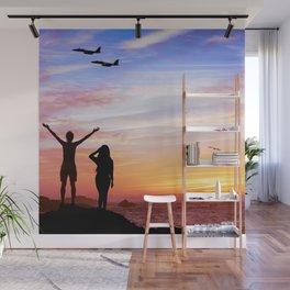 Roaring Sunset Wall Mural