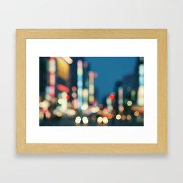 Blurred Traffic Framed Art Print