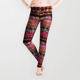 Boho Grunge Striped Pattern 1 Leggings