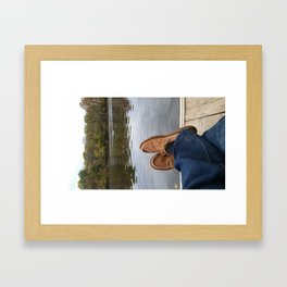 Relaxing at Robious Landing Park !! Framed Art Print