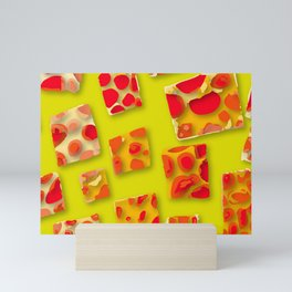 red spotted rectangles Mini Art Print