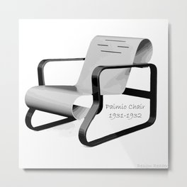 Paimio Chair Metal Print