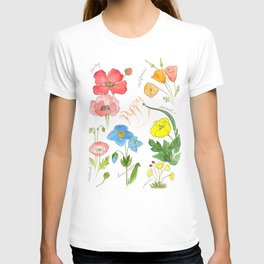 Types of Poppies T-shirt