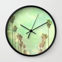 photograph Wall Clocks featuring Los Angeles. La La Land photograph by Myan Soffia