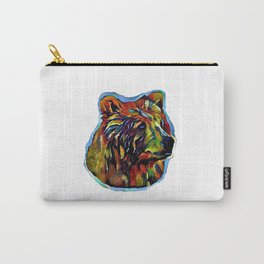 Kaleidoscope Bear on White Carry-All Pouch
