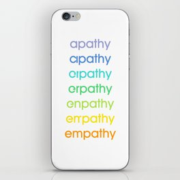 apathy/empathy 2 iPhone Skin