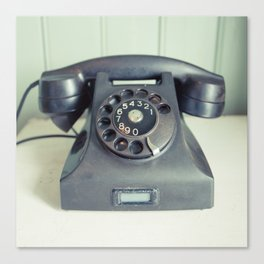 Old Rotary Telephone Canvas Print