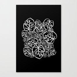 Black Palms Canvas Print