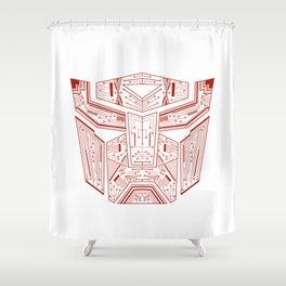 Autobot Tech Red Shower Curtain