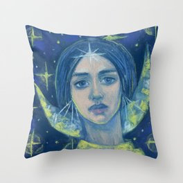 Hecate / Goddess of the Moon Throw Pillow