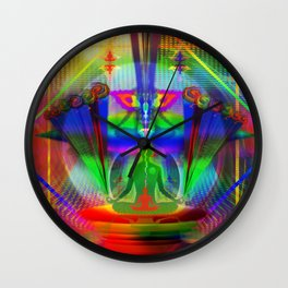 PEEKING OUT OF WORRY Wall Clock