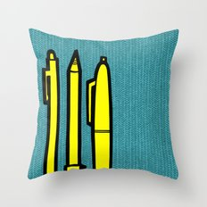 Doodlers Win Throw Pillow