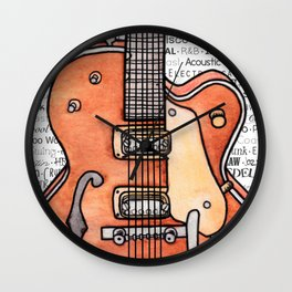 Music for the Soul & Spirit - Orange Series Wall Clock