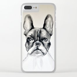 Portrait of a French Bulldog Clear iPhone Case