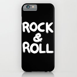Rock and Roll Brushstroke Black and White iPhone Case