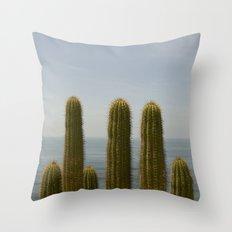 Sea Cactus Throw Pillow