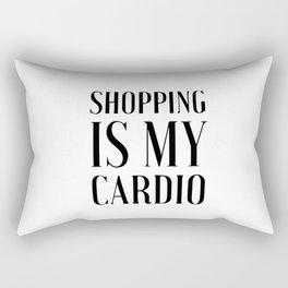 Shopping is my cardio Rectangular Pillow