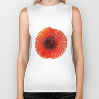 poppy Biker Tanks featuring Poppy by Klara Acel