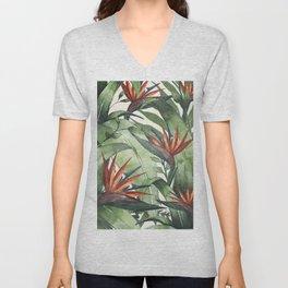 Tropical Flora I Unisex V-Neck
