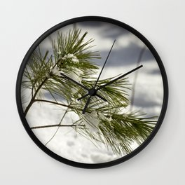 Braced for a Maine Winter Wall Clock