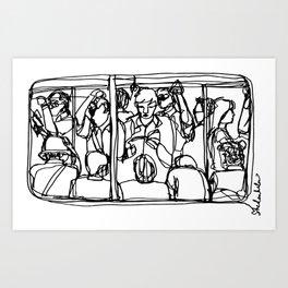 Commuters Art Print