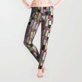 Lipsticks Makeup Collection Illustration Leggings