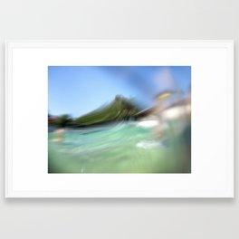 Walk on the ocean Framed Art Print