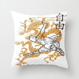 Shaolin Monks Throw Pillow