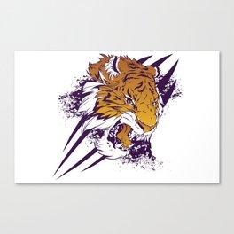 Purple Slashed Tiger Canvas Print