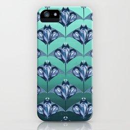 Manta ray - Sapphire iPhone Case