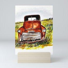 Rusted Farm Truck Mini Art Print