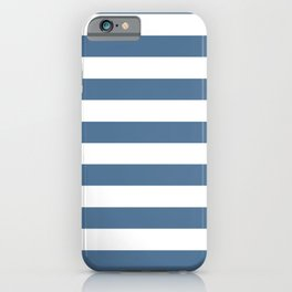 Blue and White Stripes iPhone Case