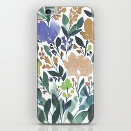 hand painted flowers_2b iPhone Skin