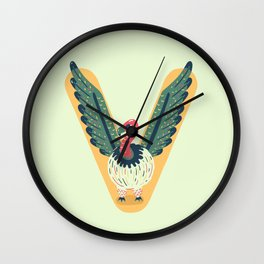 V for Vulture Wall Clock