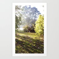 kangaroo Art Prints featuring Kangaroo by Nove Studio