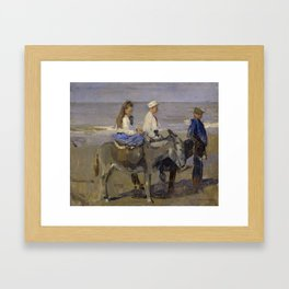 Boy and Girl Riding Donkeys - Isaac Israëls Framed Art Print