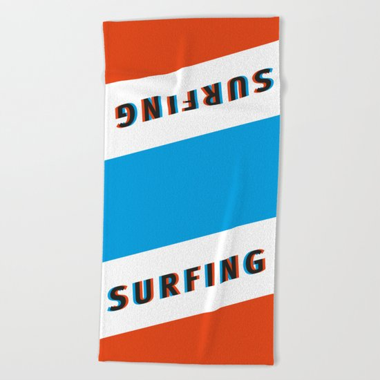SURFING 3D - Square Beach Towel