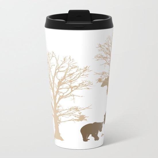 Morning Bears In The Woods No. 2 Metal Travel Mug
