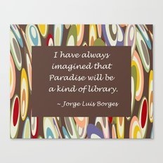 Paradise - The Library Canvas Print