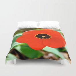 Red Portal Duvet Cover