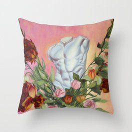 Done with Eros Throw Pillow